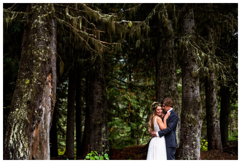 Island Lake Lodge Wedding Fernie - Bride & Groom Photo