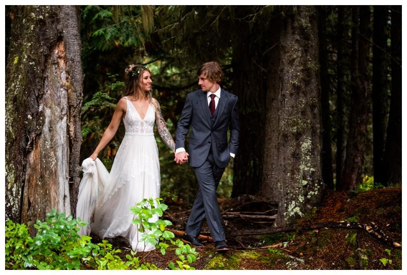 Island Lake Lodge Wedding Fernie - Bride & Groom Photographer