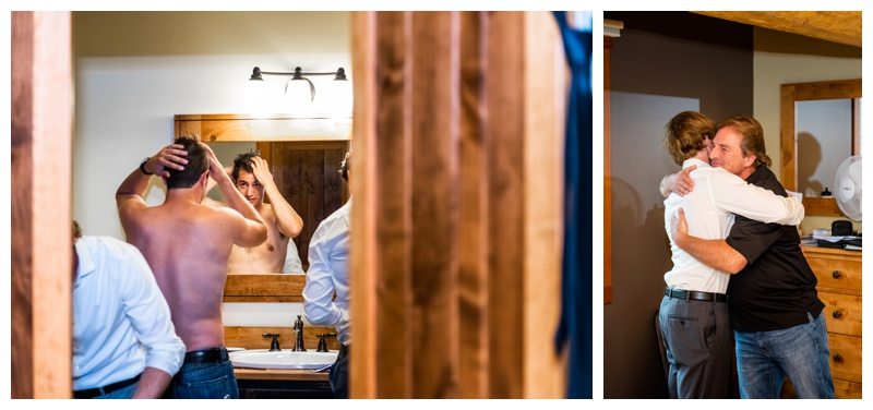 Island Lake Lodge Wedding - Groom Prep Photos