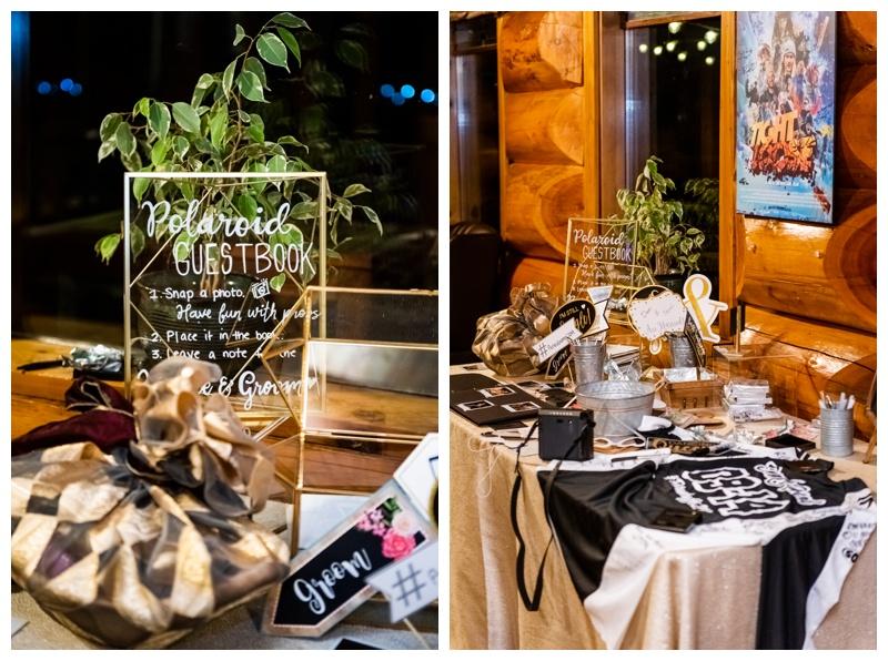 Island Lake Lodge Wedding Reception Photography