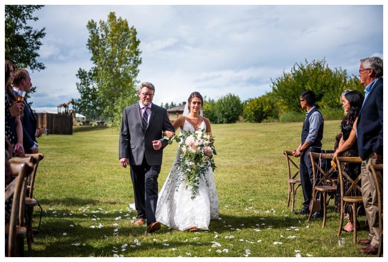 Wedding Ceremony Dewinton Community Hall Photography - Calgary Photographer