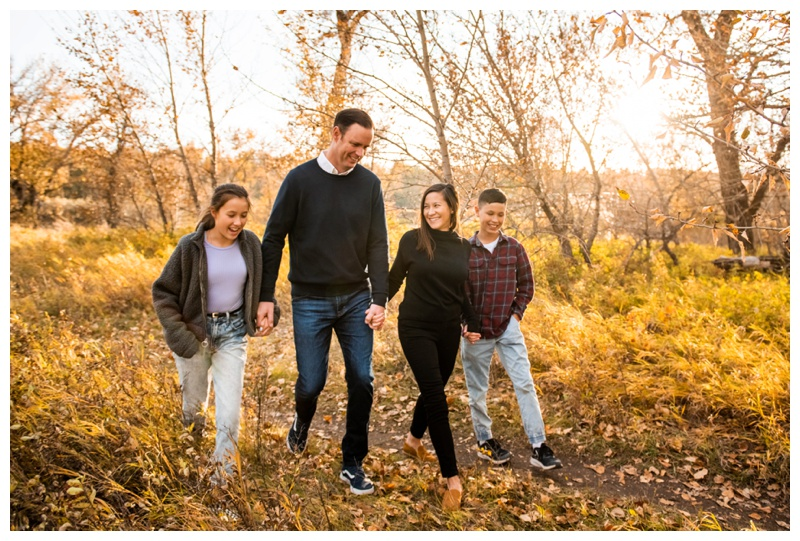 Fall Fish Creek Park Family Photographers