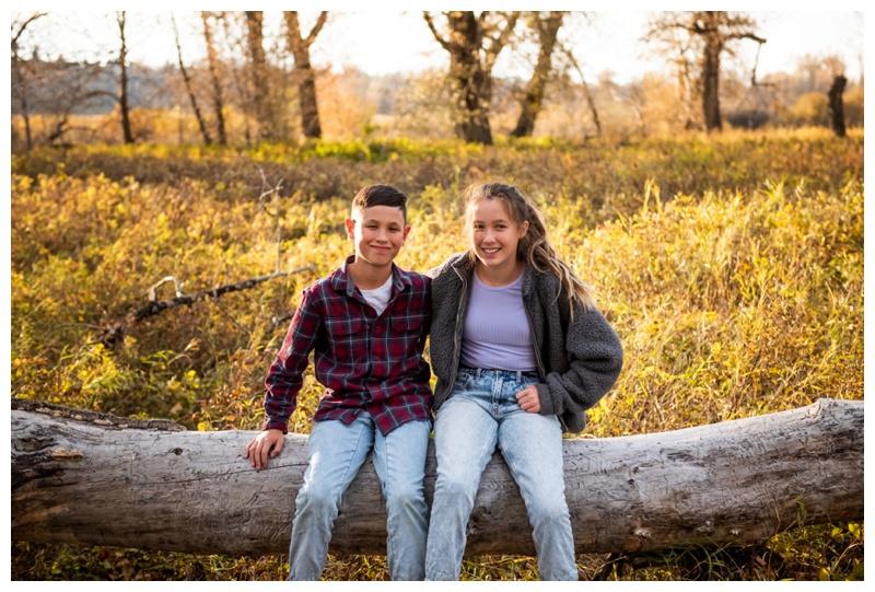 Fall Fish Creek Park Family Photography