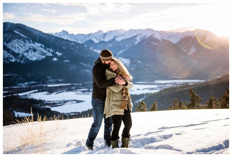 Banff Winter Engagement Photography