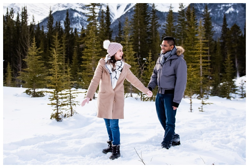 Canmore Winter Couple Photography Session