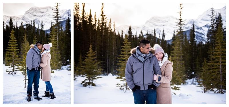 Kananaskis Winter Couple Photographers