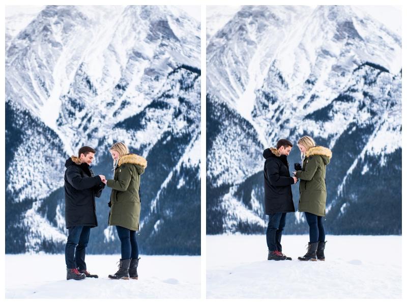 Lake Minniwanka Proposal Photography Banff