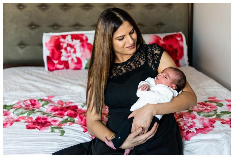 Winter At Home Newborn Photography Calgary