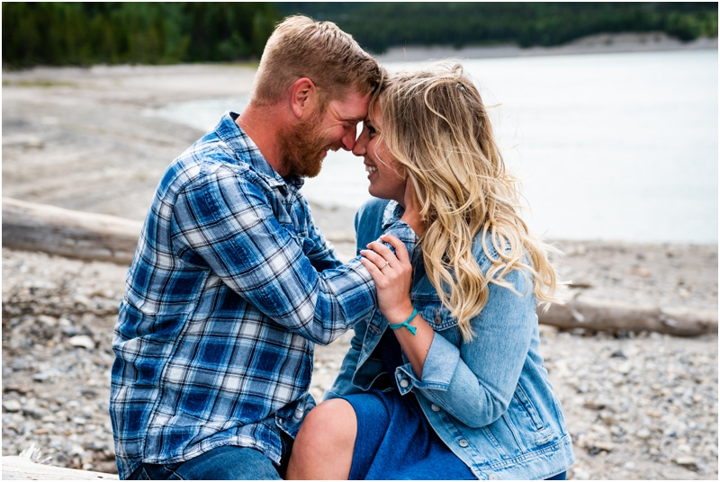 Kananaskis Barrier Lake Engagement Photographers