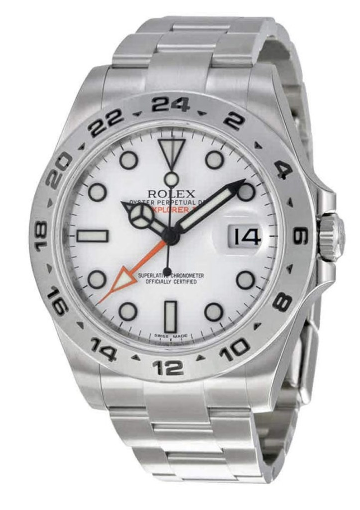 Pajak Rolex ( Rolex Explorer II White Dial Stainless Steel Oyster Bracelet 216570 ) RM15,000