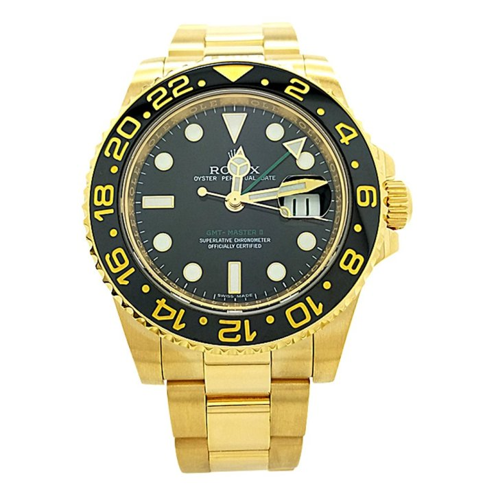 Pajak Rolex GMT-Master-II Black-Dial-18K-Yellow-Gold-116718BKSO-Full-Set-2018-RM75,000