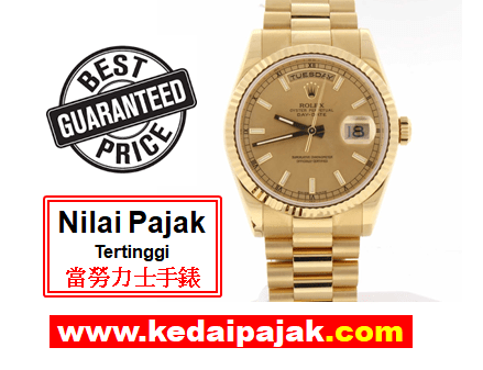 Pajak Rolex President Day-Date Dengan RM50,000