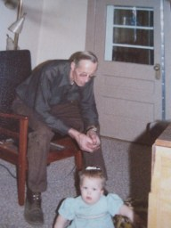 Me and Grampa, at The Farm.