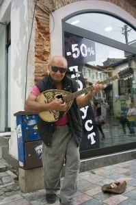 Ohrid, this street artist got my last Macedonian money