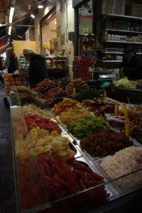 Nice market just outside my hostel in Jerusalem