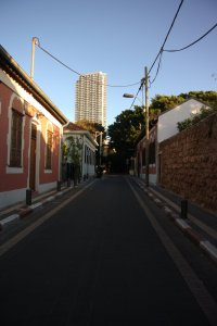 Empty Tel Aviv during sabbath