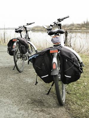 Onze twee Flyer fietsen