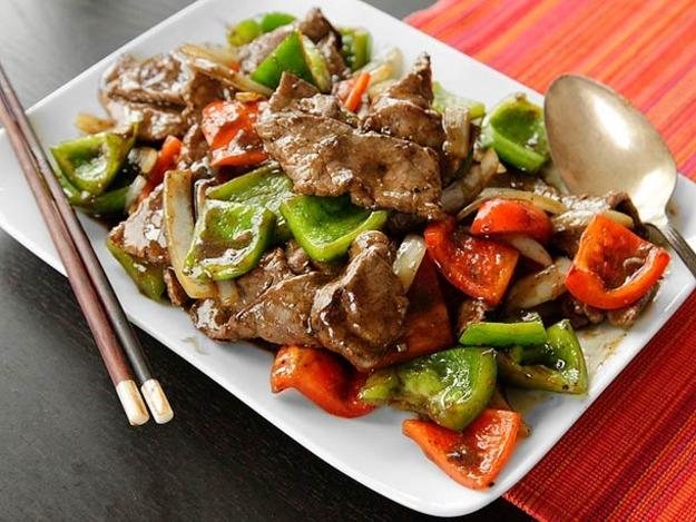Chinese Beef Steaks With Saute Vegetables recipe, how to ...