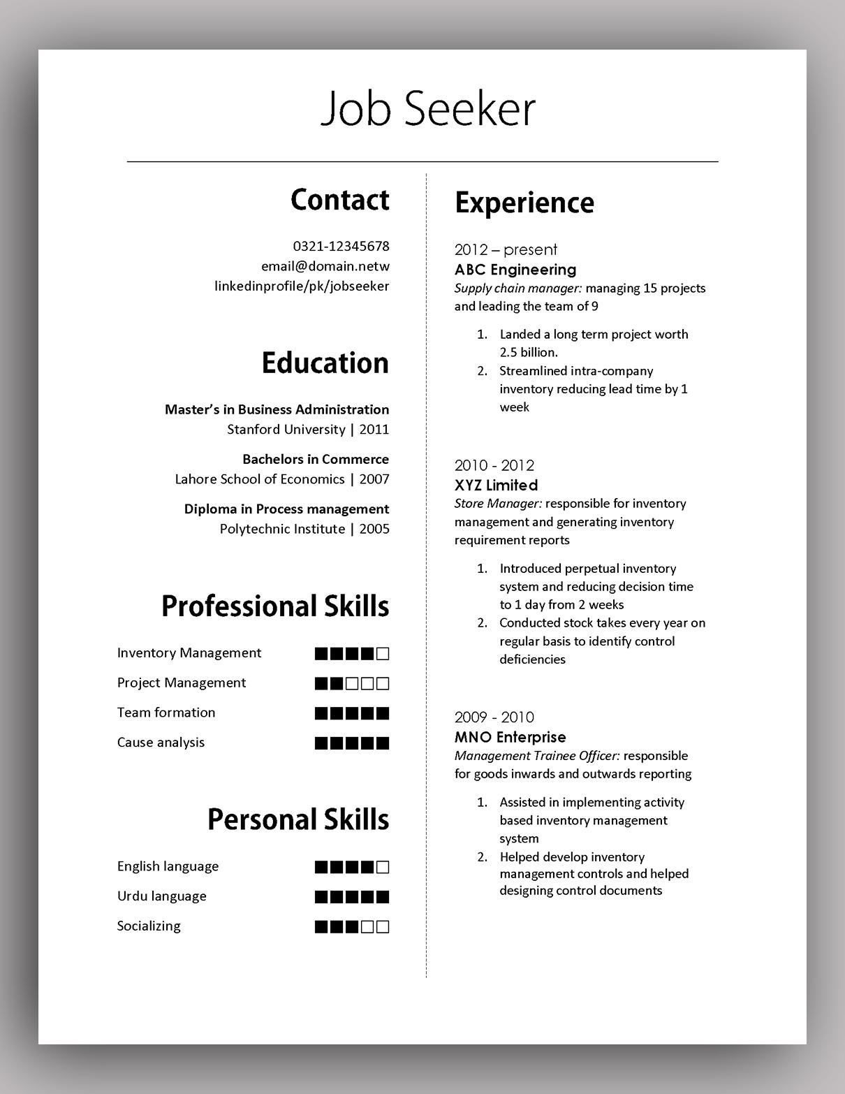 Formal Resume Template. resume templates free resume templates ...