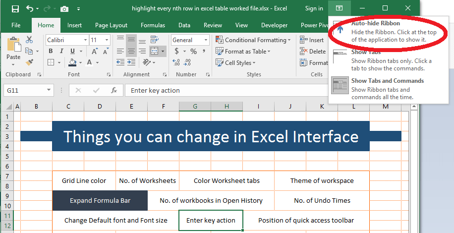 15 Default Settings That You Can Change In Excel