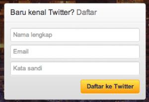 proses pendaftaran akun twitter 1