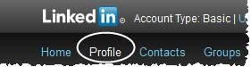 Masuk ke LinkedIn kemudian klik profile
