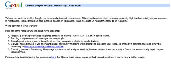 Akun gmail terkunci