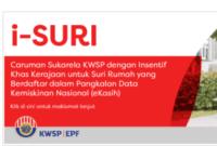 Insentif i-Suri KWSP Caruman Suri Rumah Panduan Daftar dan Semak