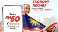 Cara Tebus Kredit E-Penjana RM50 E Wallet