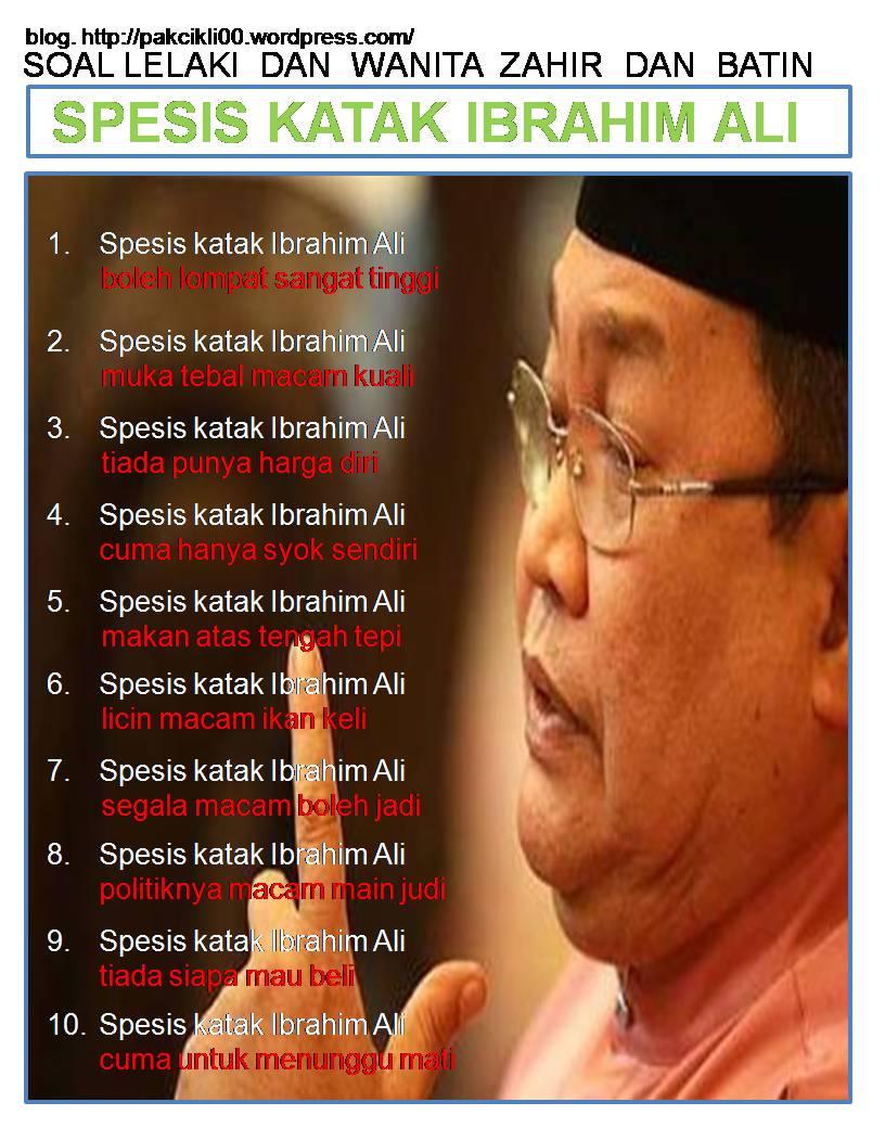 Spesis katak Ibrahim Ali_NIZAR News