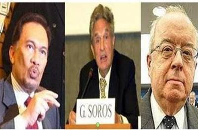 Anwar Ibrahim, George Soros dan John R Mallot