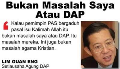 Bukan Masalah Saya Atau DAP-Guean Eng