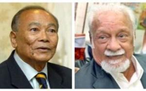 Tunku Aziz (kiri), Karpal (kanan).