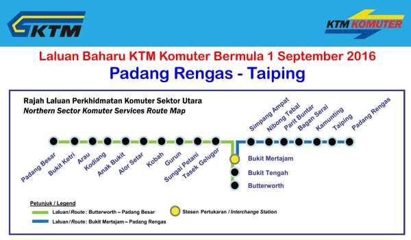 Jadual Perjalanan Dan Tambang KTM Komuter Sektor Utara - Padang Rengas - Bukit Mertajam - Padang Besar