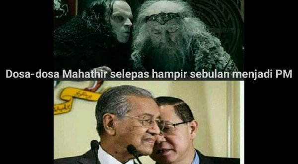 Dosa-dosa Mahathir selepas lebih sebulan menjadi PM