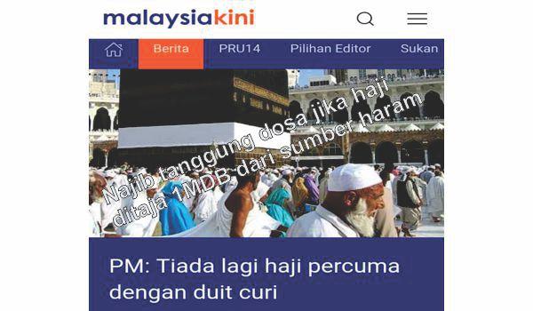 Najib tanggung dosa jika haji ditaja 1MDB dari sumber haram