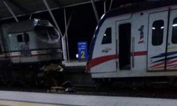 Tren kargo dan Komuter KTM berlanggar di Tanjung Malim, 5 cedera
