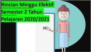 Rincian Minggu Efektif Semester 2 Tahun Pelajaran 2020/2021
