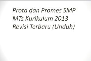 Prota dan Promes SMP MTs Kurikulum 2013 Revisi Terbaru (Unduh)