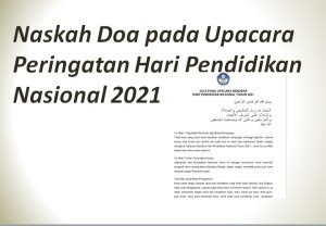 Naskah Doa pada Upacara Peringatan Hari Pendidikan Nasional 2021