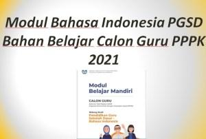 Modul Bahasa Indonesia PGSD Bahan Belajar Calon Guru PPPK 2021