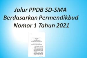 Jalur PPDB SD-SMA Berdasarkan Permendikbud Nomor 1 Tahun 2021