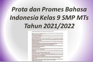 Prota dan Promes Bahasa Indonesia Kelas 9 SMP MTs Tahun 2021/2022