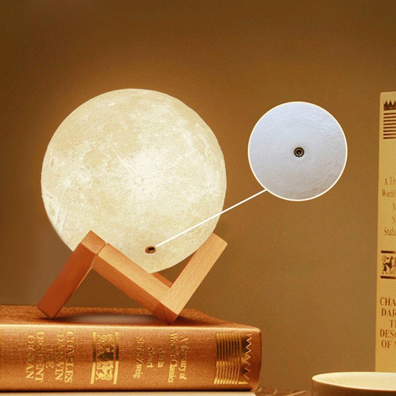 Månlampa uppladdningsbar 3D