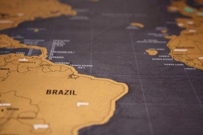 Skrapkarta världen original deluxe Scratch map original deluxe guldfoilerad på mattsvart