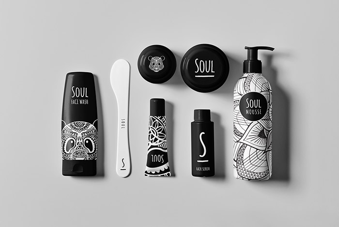 Picture of Soul Cosmetics taken from the top to showcase their product design