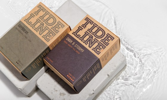 tideline coffee product image with water