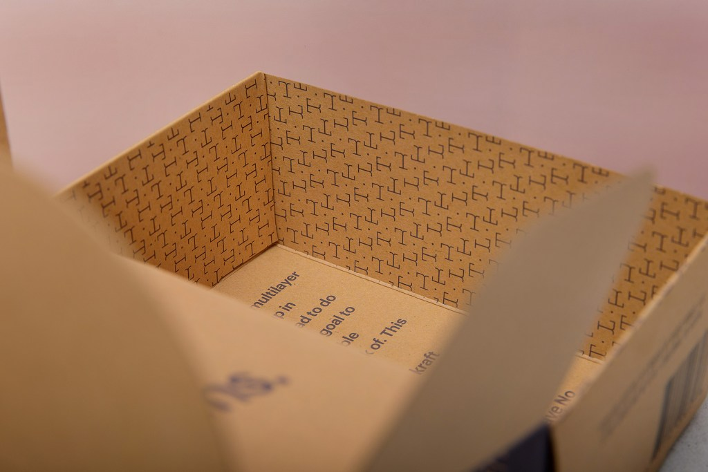 close up image of tideline coffee box inside