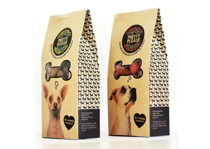 Example of Raster image on packaging