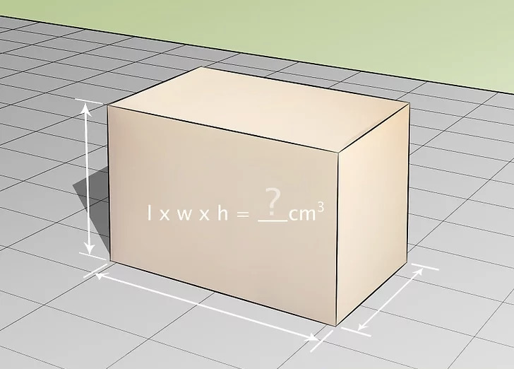 Example of calculating box volume